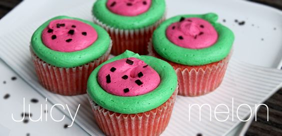 Juicy melon cupcake