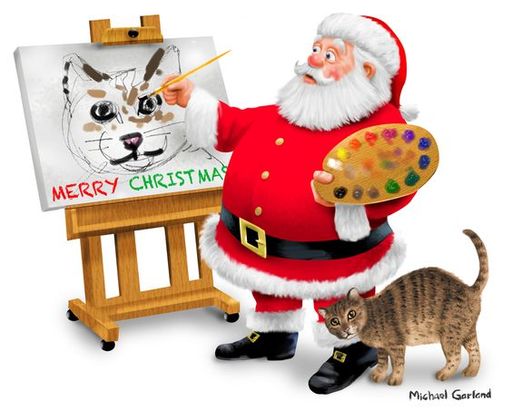 Santa as artist.