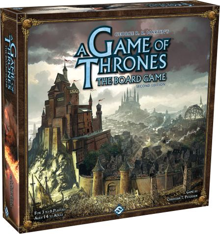 A board game of conflict, intrigue and cunning plots for 3 - 6 players. The updated second edition brings a host of enhancements to your A Game of Thrones experience. It incorporates elements from previous expansions, including ports, garrisons, Wildling cards, and Siege engines, while introducing welcome new innovations. Convenient player screens will hide your underhanded dealings from prying eyes, while new Tides of Battle cards convey the uncertainty of war. This, along with updated…