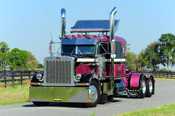 """When the opportunity arose five-six years ago to become just the third owner of a """"piece of history"""" in a 1986 Peterbilt 359 that'd been kept in immaculate condition by its second owner, an owner-operator based in Waleska, Ga., Ronnie Adams couldn't resist. """"I've been looking for a truck like this for 10-15 years,"""" he says, and set about laying Adams Motor company colors in a unique design on the body. For full story, visit www.customrigsmag.com/painting-it-adams."""