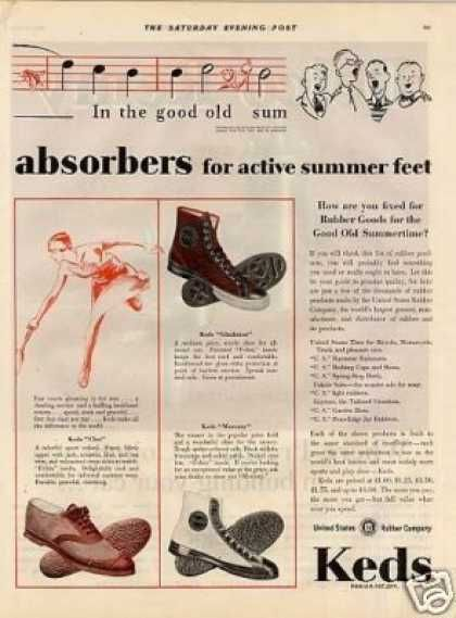 Keds Shoes Color Ad 2 Page (1929)  Converse All Star's grandfather?