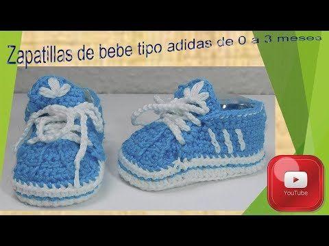 farmacéutico clase Hizo un contrato  Tutorial: Gorra para bebe tipo adidas de crochet - YouTube | Adidas para  bebe, Zapatos de ganchillo, Zapatillas de bebe