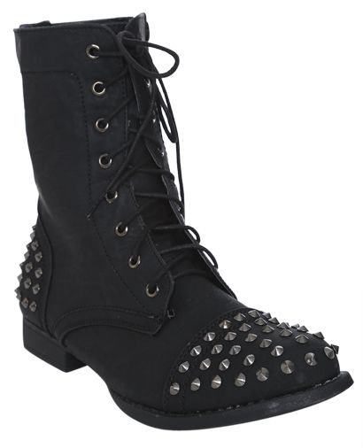 Minka Short Combat Boot. I would put different color shoe laces ...