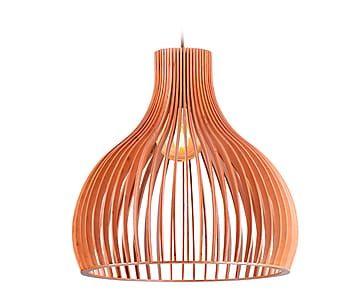 Lámpara de techo de madera contrachapada Eva