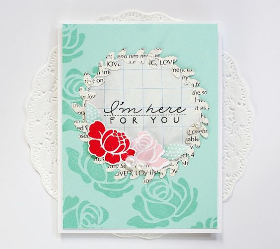 I'm Here For You Card by Danielle Flanders for Papertrey Ink (November 2013)
