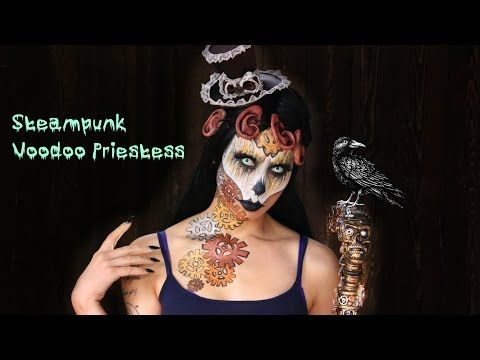 Steampunk Voodoo Makeup Tutorial | Halloween 2015 - YouTube