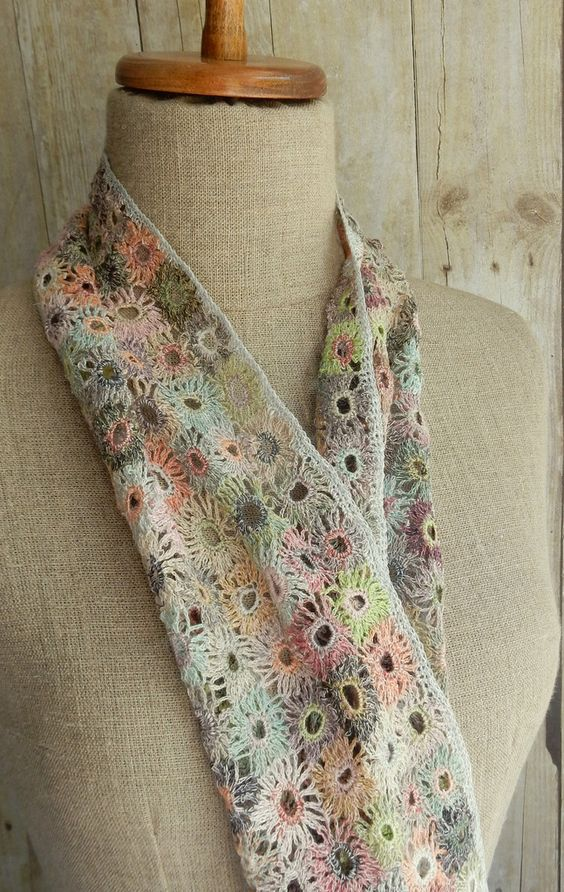 """Supernova"" small linen scarf 