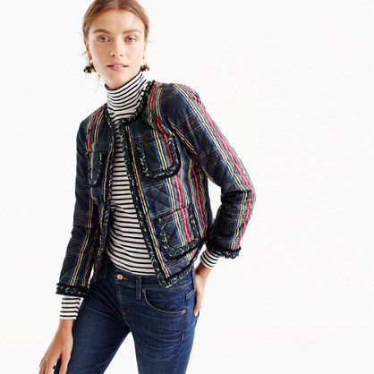 Quilted lady jacket in Stewart plaid: