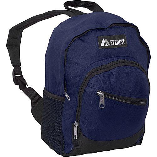 Everest Junior Slant Backpack Navy - Everest School & Day Hiking Backpacks