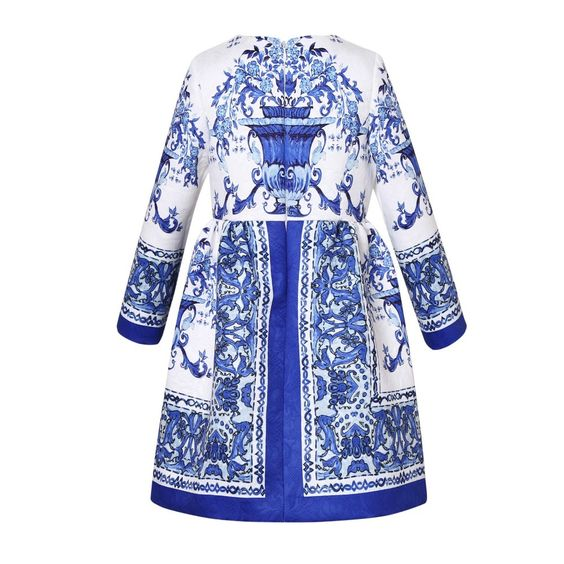 Find More Dresses Information about Blue and white porcelain long sleeved girls dress New  Europe and the United States high end children's clothing,High Quality Dresses from Leader international trade company on Aliexpress.com