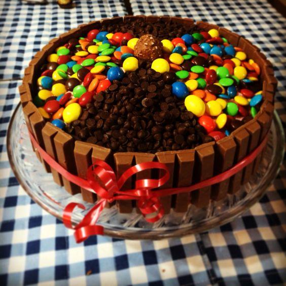 Cake Kit Kat de chocolate