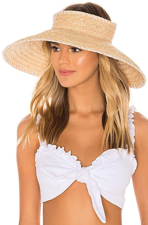 Hat Attack Whipstitch Roll Up Travel Visor Pool Fashion Boho Beach Outfit Fashion