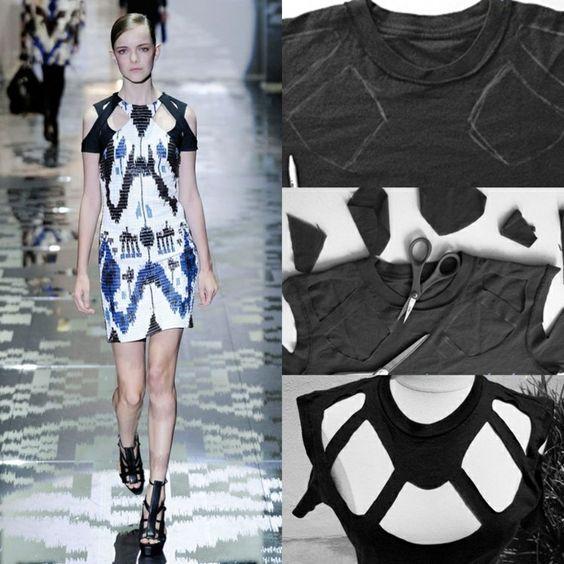 top femme original imitation Gucci en t-shirt noir