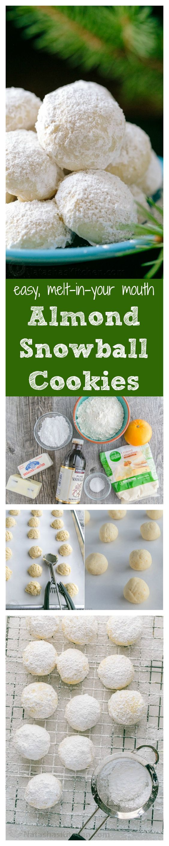 Snowball cookies, Snowball and Christmas cookies on Pinterest