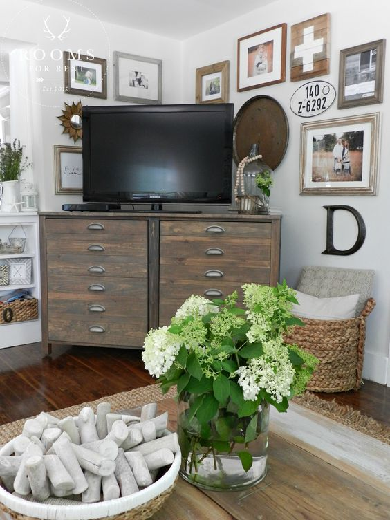 How to create a Gallery Wall around a tv in a corner   Rooms FOR Rent Blog