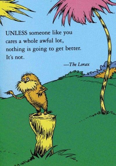 words of wisdom by Dr Seuss.