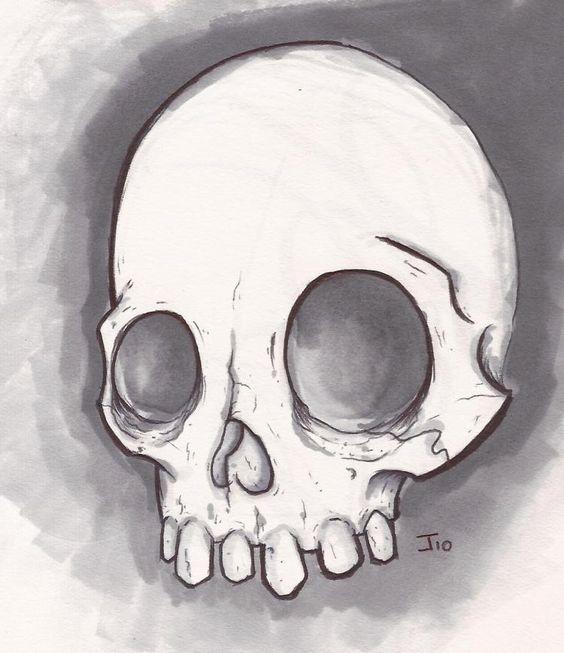 Easy Beginner Skull: Easy Drawings Of Skulls