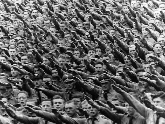 Image result for germans saluting hitler