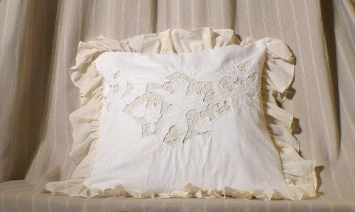 pillow, richelieu, shabby, vintage