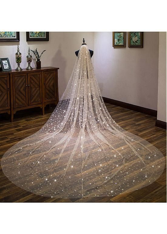 Wedding Hairstyle In Stock Fabulous Tulle Cathedral Wedding Veil