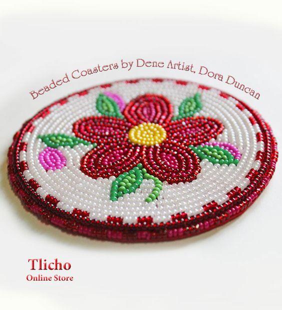 Beaded Coaster by Dora Duncan. $104.00.