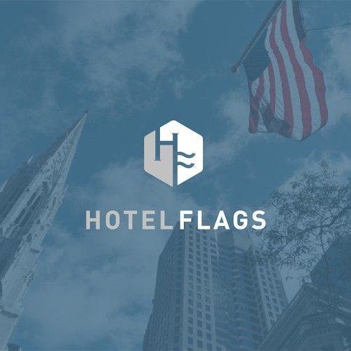 Hotel Flags Logo Logo Branding Identity Flag Logo Logo Branding