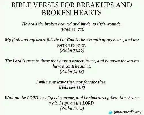 Bible verses for breakups