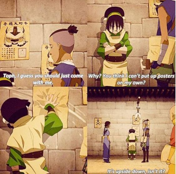 Avatar 2 Poster: Toph Putting Up Appa Posters Avatar The Last Airbender