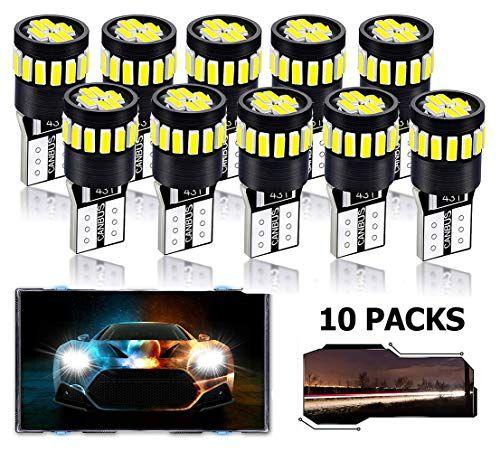 T10 Led Bulb Lnkey Super Bright Led Bulbs For T10 194 168 2825 W5w 158 175 10packs 21smd 4014 6000k White Best Gift For Car Lovers Led Bulb Bright Led T10 Led