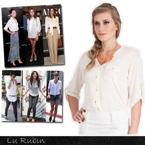 Versátil e com apelo clean, a camisa branca é aposta certeira para diversas produções!