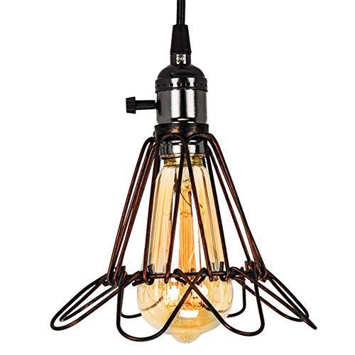 Vintage Pendant Light Lampundit Wire Cage Lamp Pendnat E Https Www Amazon Com Dp B07l6f1y23 Ref Small Lamp Shades Vintage Pendant Lighting Vintage Lamps