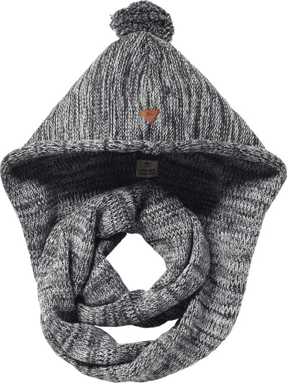 Knit scarf with hood