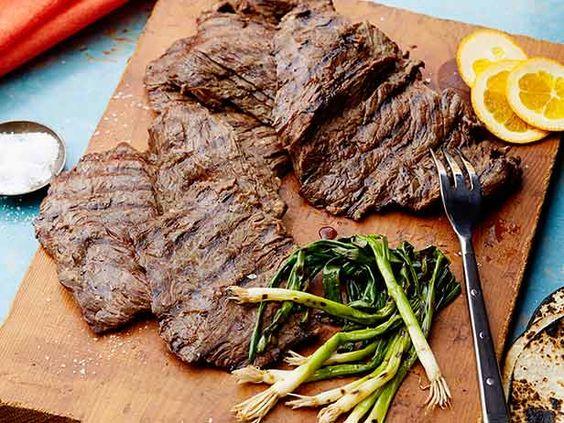 Beer-Marinated Grilled Skirt Steak Recipe : Marcela Valladolid : Food Network - FoodNetwork.com