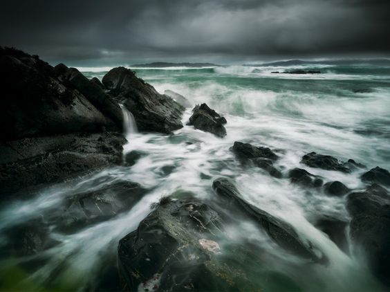WINTER STORM, THE SOUND OF TARANSAY, ISLE OF HARRIS - 2011