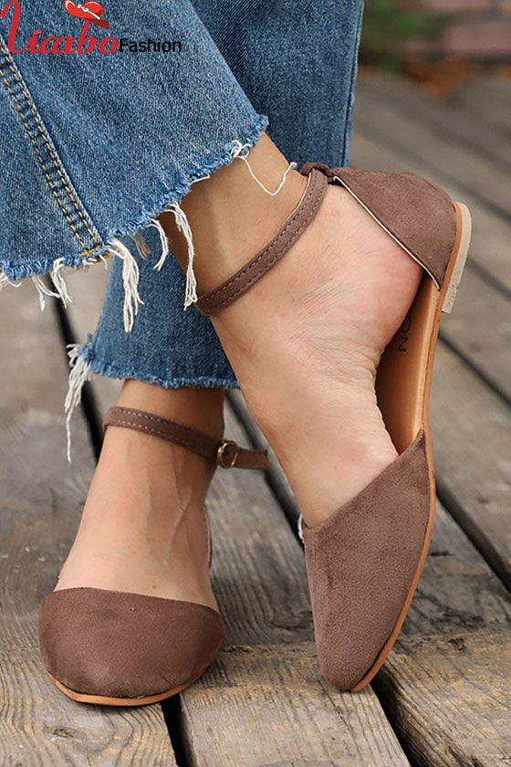 Womens Ankle Strap Ballerina Flats Ballet Dolly Pumps Slip On Summer Comfy Shoes