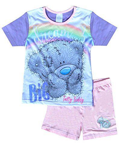 Girls Tatty Me to You Teddy Long Short Shortie Pyjamas PJs Age 5-12 Years