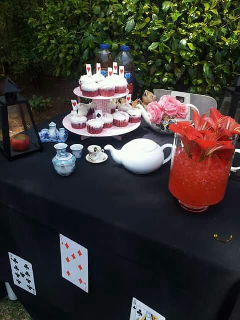 Mad hatters bachelorette cupcakes and tea... Spiked tea that is