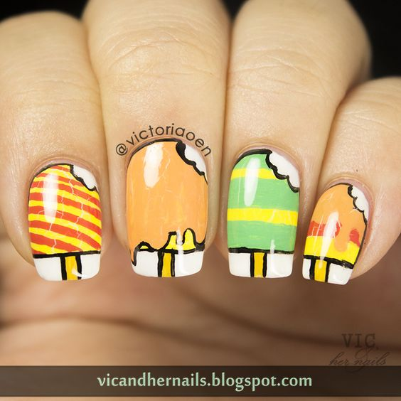 Vic and Her Nails: The Digital Dozen Does Summer - Day 1: Popsicle