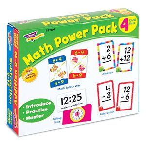 Math Power Pack from TREND. Teacher-created, award-winning learning products for Pre-K to Grade 9. TRENDenterprises.com.