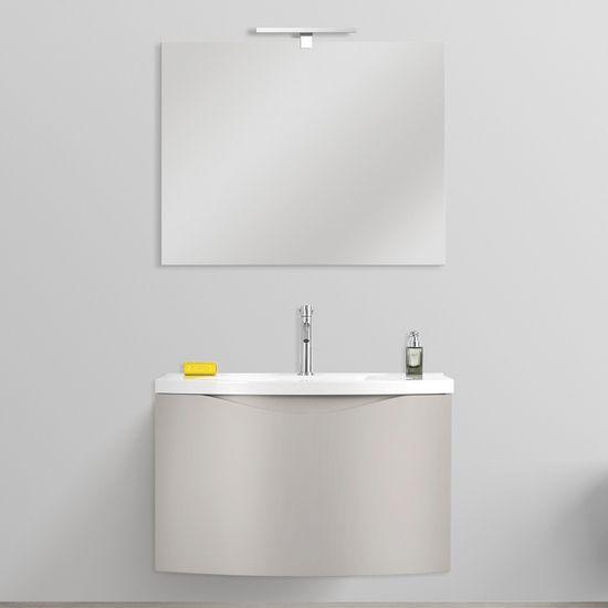 Arredo Bagno Debby 60x40 Mobile Sospeso In 3 Colorazioni E Specchio Incluso Nel 2020 Arredamento Bagno Arredamento E Bagno