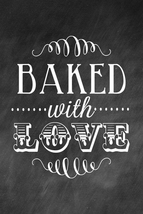 "Lámina ""Baked with love"" de #LilLuna"