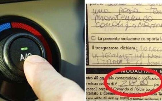 """Fermo in auto con l'aria condizionata accesa: la multa è """"super"""" lo sapevate? Si era fermato lasciando la vettura accesa con il condizionatore in funzione. Come racconta il quotidiano La Provincia di Como, tre agenti della municipale lo hanno multato in quanto il ragazzo """"a bo #multa #ariacondizionata"""
