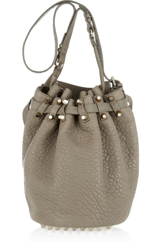 Early birthday present from the hubbie - Diego bucket bag in Granite by Alexander Wang.  Its freaking gorg.