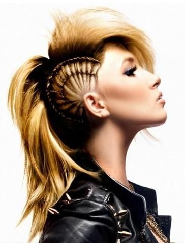 Remarkable Rock Hairstyles Mohawk Hairstyles And Hairstyle For Women On Hairstyles For Women Draintrainus