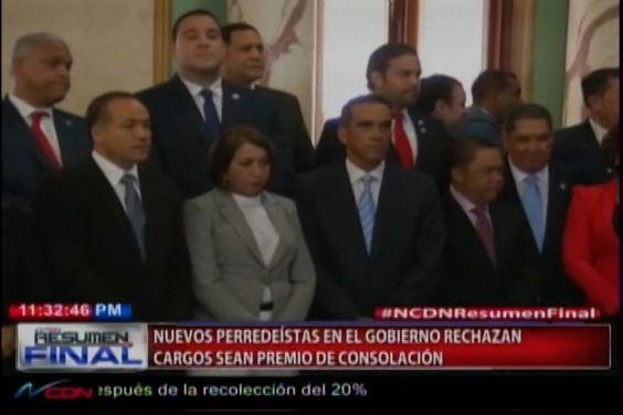 El gobierno de Danilo Medína da cargos como Premios de consolación para nuevos perredeístas