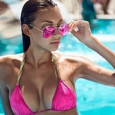 Ray Ban Pink Mirror Aviator