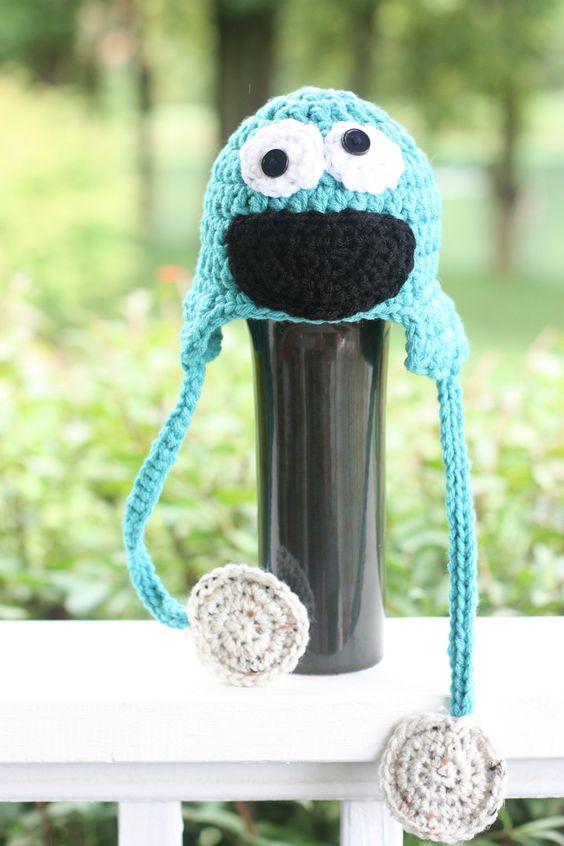 Crochet PATTERN - Cookie Monster Hat | Crochet | Pinterest ...