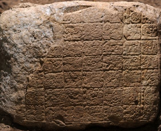 Maya inscription - MAYAN CALENDAR DISCOVERY CONFIRMS 2012 'END DATE' - that would be the end of their calendar or the reign of this particular king and NOT the end of the world - side note, thanks to leap year, we kind of already missed the so-called doomsday