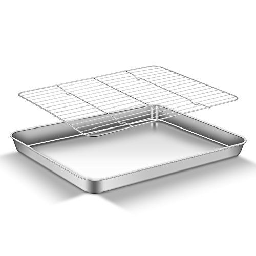 Aemiao Baking Sheet With Rack Set Stainless Steel Baking Sheet