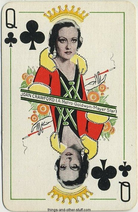 Joan Crawford 1933 (Thomas De La Rue Queen of Clubs Playing Cards)